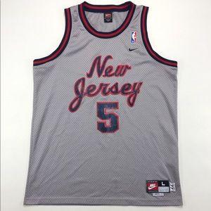 NIKE New Jersey Nets Throwback Kidd #5 Jersey